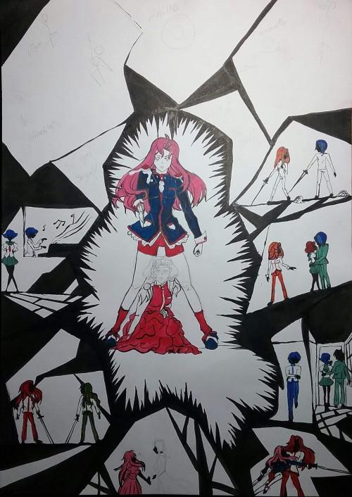 Fan-art de shojo kamukei Utena en proceso xD